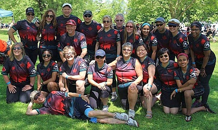 Picture of the MOtley Crew team at the June 2016 Toronto International DB Race Festival on Toronto's Centre Island.   This is first picture and use of our new jerseys!